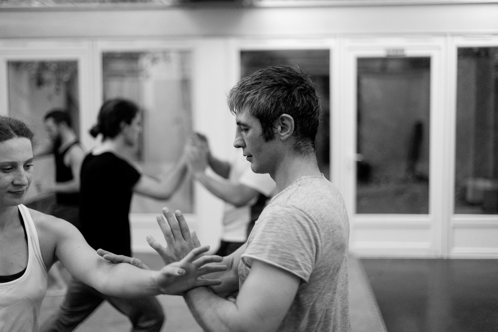 tai chi pushing hands practice