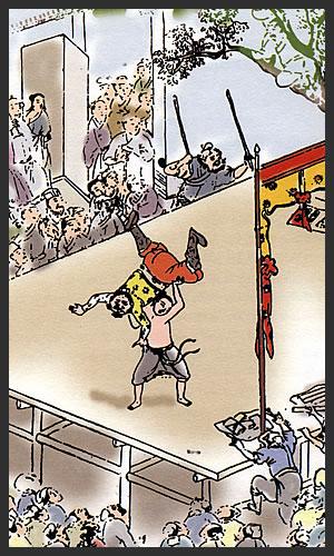 Ancient Lei Tai fighting